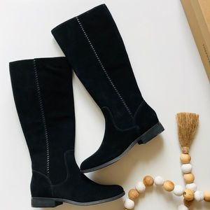NWT Frye black suede tall boots